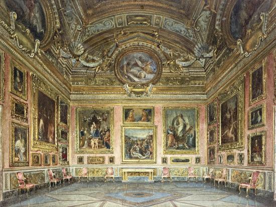 Interiors of the Palazzo Pitti, Florence-Domenico Caligo-Giclee Print