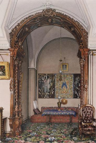 Interiors of the Winter Palace, the Alcove of the Study of Grand Prince Nicholas Nicolaievich-Konstantin Andreyevich Ukhtomsky-Giclee Print