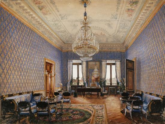 Interiors of the Winter Palace, the Drawing-Room of Grand Princess Maria Nikolayevna, 1837-Konstantin Andreyevich Ukhtomsky-Giclee Print