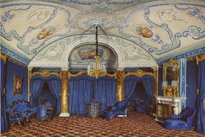 Interiors of the Winter Palace, the Fourth Reserved Apartment, a Bedroom, 1868-Eduard Hau-Giclee Print