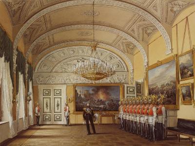 Interiors of the Winter Palace, the Guardroom, 1864-Eduard Hau-Giclee Print