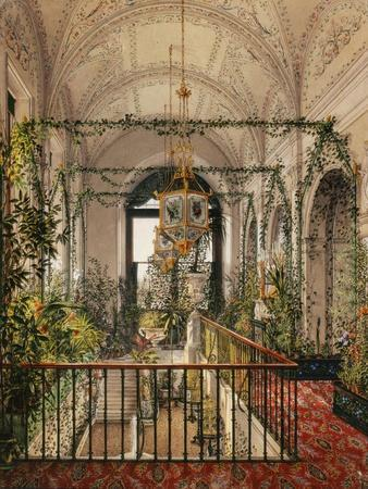 Interiors of the Winter Palace, the Small Winter Garden in the Apartments of Alexandra Fyodorovna-Konstantin Andreyevich Ukhtomsky-Framed Giclee Print