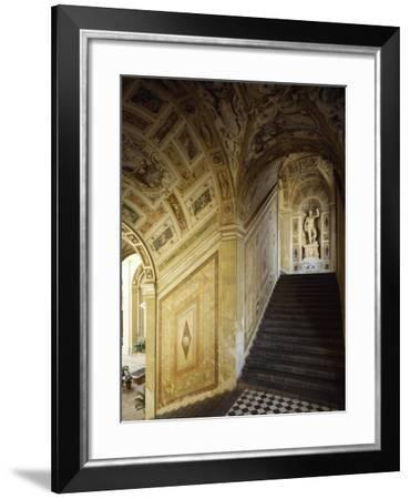Internal Courtyard and Staircase, Palace of Marquis of Santa Cruz, Viso Del Marques--Framed Giclee Print