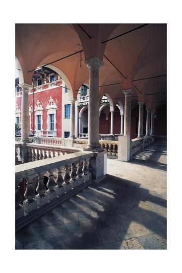 Internal Portico of Cybo Malaspina Palace--Giclee Print