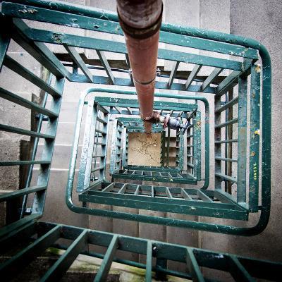 Internal Stairwell in Modern Building-Craig Roberts-Photographic Print