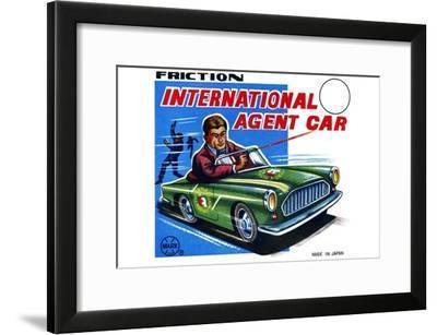 International Agent Car--Framed Art Print