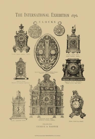 International Clocks--Art Print