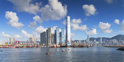 International Commerce Centre (Icc) and Hong Kong Island Skyline, Hong Kong, China, Asia-Ian Trower-Photographic Print