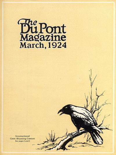 International Crow-Shooting Contest, Front Cover of the 'Dupont Magazine', March 1924-American School-Giclee Print