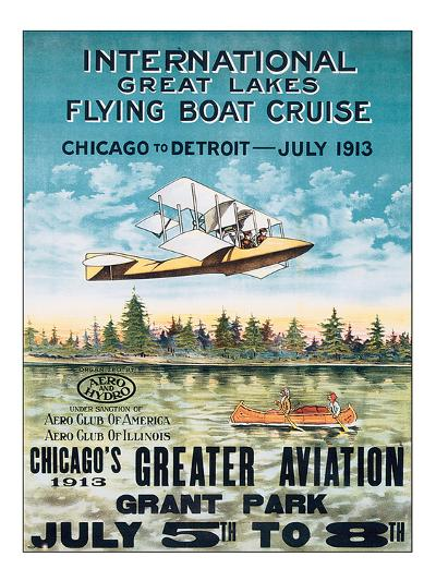 International Great Lakes Flying Boat Cruise, Chicago to Detroit, c.1913--Art Print