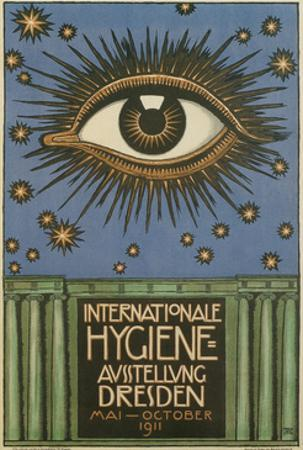 International Hygiene Exhibition Poster with Eye