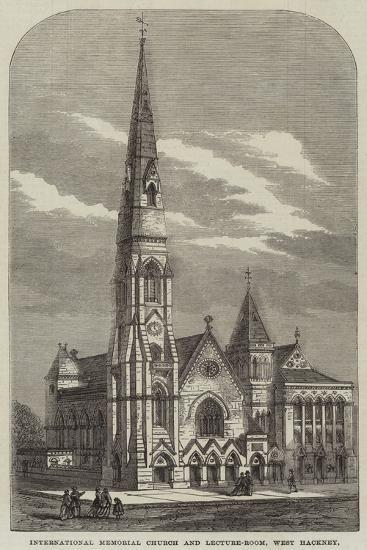 International Memorial Church and Lecture-Room, West Hackney--Giclee Print
