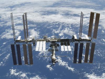 International Space Station in Orbit Above the Earth--Photographic Print