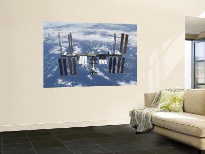International Space Station in Orbit Above the Earth--Wall Mural