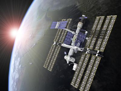 International Space Station-Roger Harris-Photographic Print