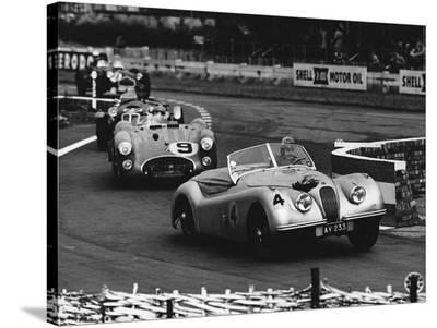 International Sports Car Race, UK, 1952-Hulton Deutsch Collection-Stretched Canvas Print