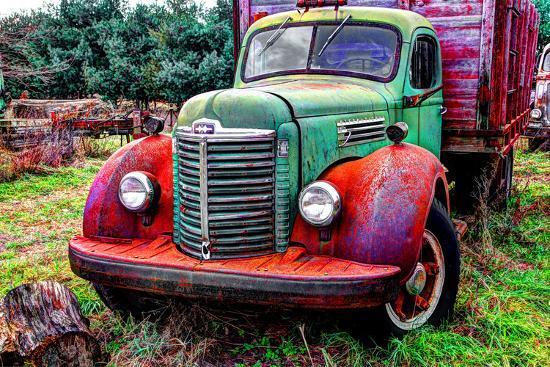 International truck 2 HDR, Overisel Township, Allegan County, Michigan, USA--Photographic Print
