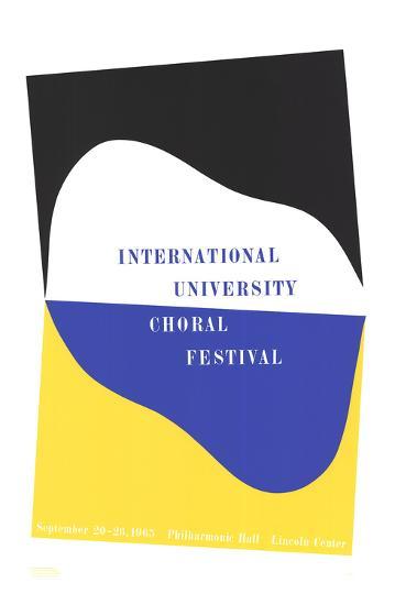 International University Choral Festival-Charles Hinman-Serigraph
