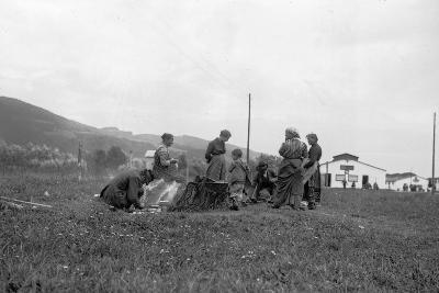 Internment Camp Katzenau, a Suburb of Linz, Austria: a Group of Prisoners--Photographic Print