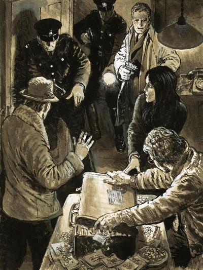 Interpol Officers Arresting Smugglers-Neville Dear-Giclee Print