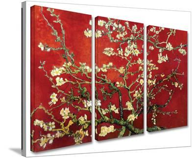 Interpretation in Red Almond Blossom 3-Piece Set-Vincent van Gogh-Gallery Wrapped Canvas Set