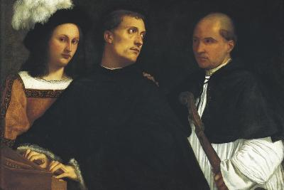 Interrupted Concert-Titian (Tiziano Vecelli)-Art Print