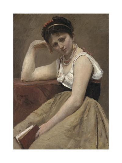 Interrupted Reading, C.1870-Jean-Baptiste-Camille Corot-Giclee Print