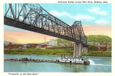 Interstate Bridge, Bellaire--Art Print