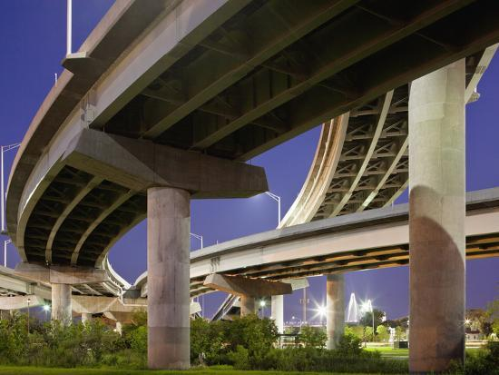 Interstate Highway Bridge Overpass at Dusk on Summer Evening, Charleston, South Carolina, Usa-Paul Souders-Photographic Print
