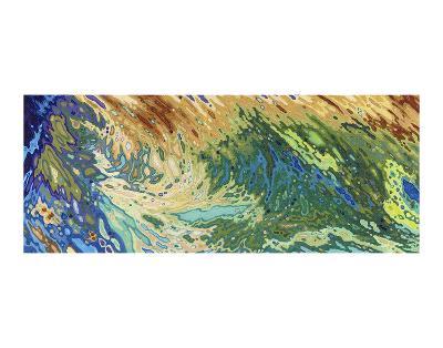 Intertwining Waves of Pigment-Margaret Juul-Art Print