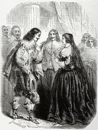 Interview Between the King Louis XIII of France (1601-1643) and His Mother Marie De'Medici--Giclee Print