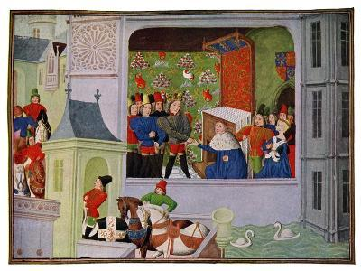 Interview of Richard II and the Duke of Gloucester, 14th Century--Giclee Print