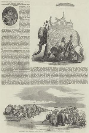 Interview of the Governor-General of India with Maharaja Goolab Sing--Giclee Print