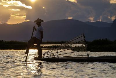 Intha Ethnic Group Fisherman, Inle Lake, Shan State, Myanmar (Burma), Asia-Nathalie Cuvelier-Photographic Print