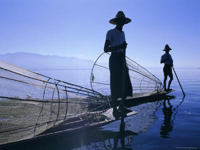 Intha Fishermen, Inle Lake, Shan State, Myanmar (Burma), Asia-Gavin Hellier-Photographic Print
