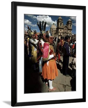 Inti Rayma Festival, Cuzco, Peru, South America-Rob Cousins-Framed Photographic Print