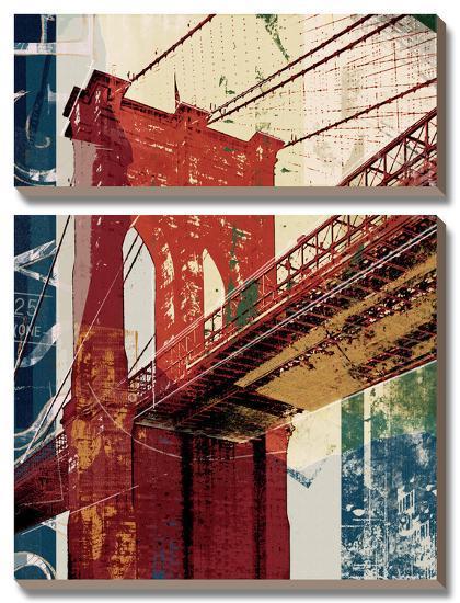 Into Manhattan II-Noah Li-Leger-Canvas Art Set