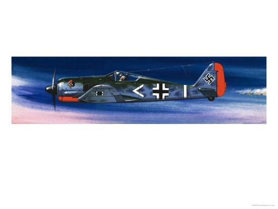 Into the Blue: German Aircraft of World War II Giclee Print by Wilf Hardy |  Art com