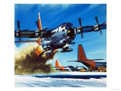 Into the Blue: South Pole Air Base-Wilf Hardy-Giclee Print