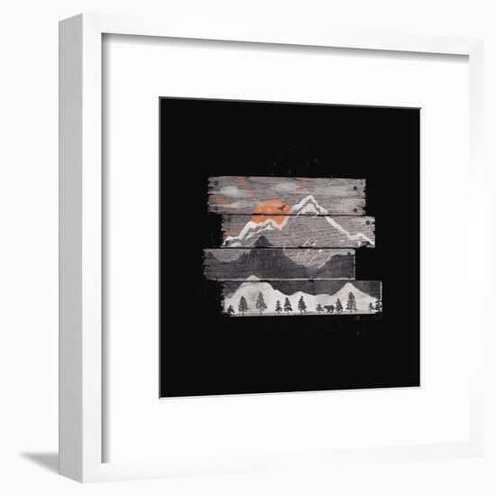 Into The Grey-NDTank-Framed Art Print