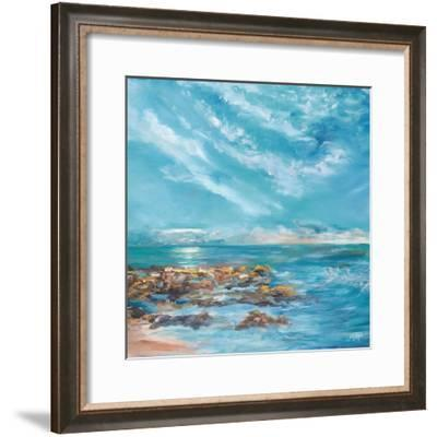 Into the Horizon Square II-Julie DeRice-Framed Art Print