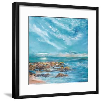 Into the Horizon Square II-Julie DeRice-Framed Art Print