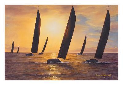Into the Sunset-Diane Romanello-Art Print