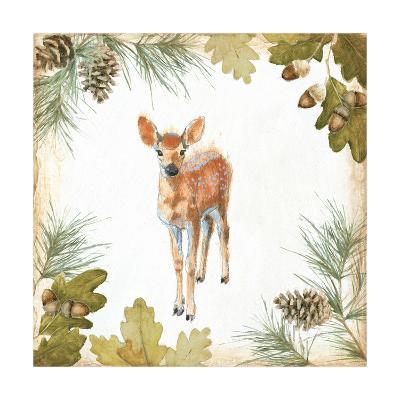 Into the Woods III on White Border-Emily Adams-Art Print