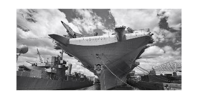 Intrepid Aircraft Carrier Panorama NYC-Henri Silberman-Photographic Print