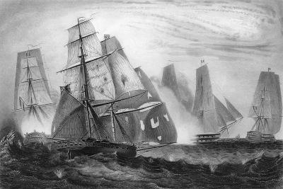 Intrepid Behaviour of Captain Charles Napier, 15 April 1809-George Greatbatch-Giclee Print