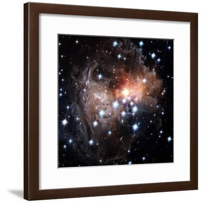 Intricate structures in interstellar dust surround a cool red star--Framed Photographic Print