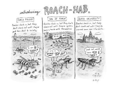 Introducing Roach-Hab - New Yorker Cartoon-Roz Chast-Premium Giclee Print