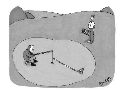 Inuit fishing on a golf green. - New Yorker Cartoon-J.C. Duffy-Premium Giclee Print