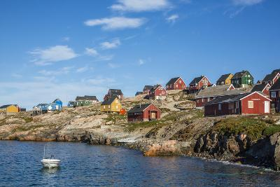 Inuit Village, Ittoqqortoormiit, Scoresbysund, Northeast Greenland, Polar Regions-Michael Nolan-Photographic Print